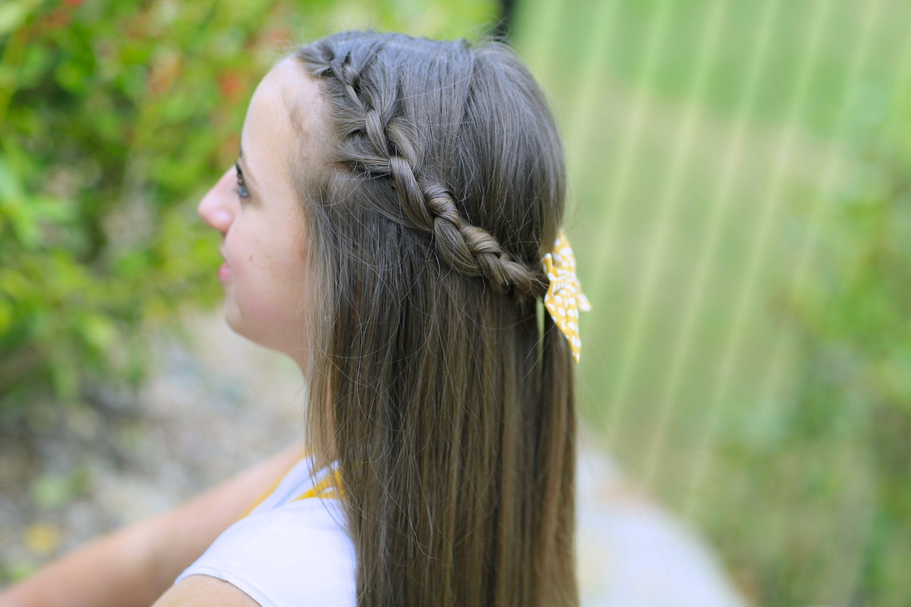 How to Create a Knotted Braid Tieback | Braid Hairstyles