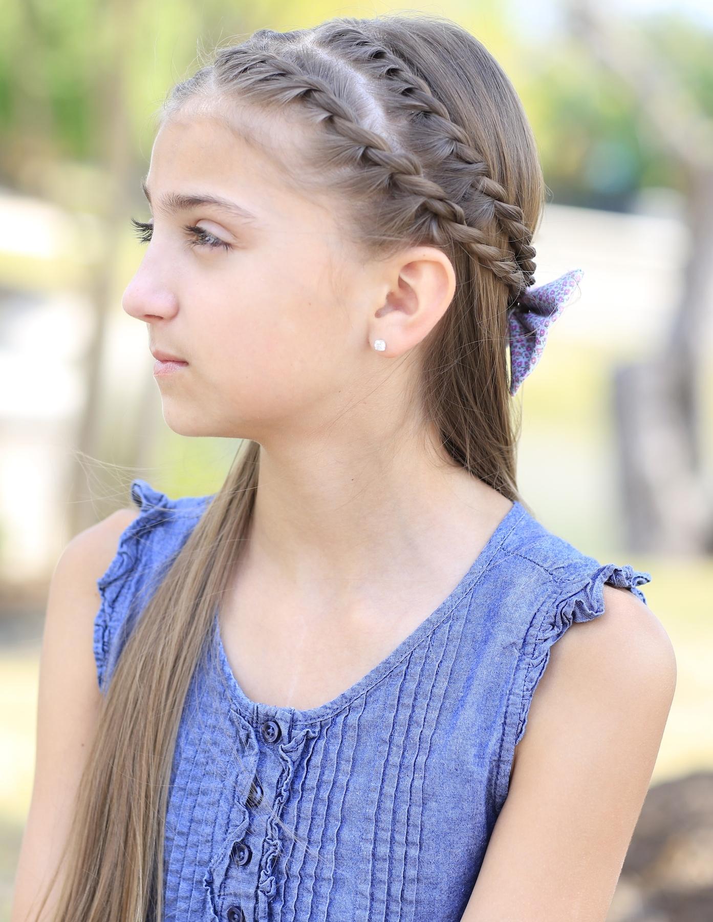 How To Create A Zig Zag Twistback Cute Hairstyles Cute Girls