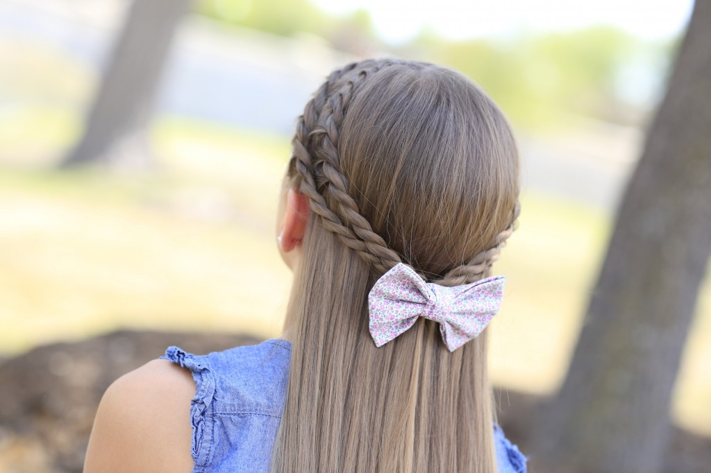 Rope Braid Tieback Hairstyle