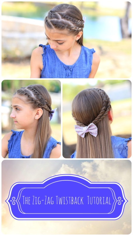 Zig-Zag Twistback Hairstyle