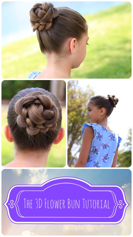 3D Flower Bun Hairstyle