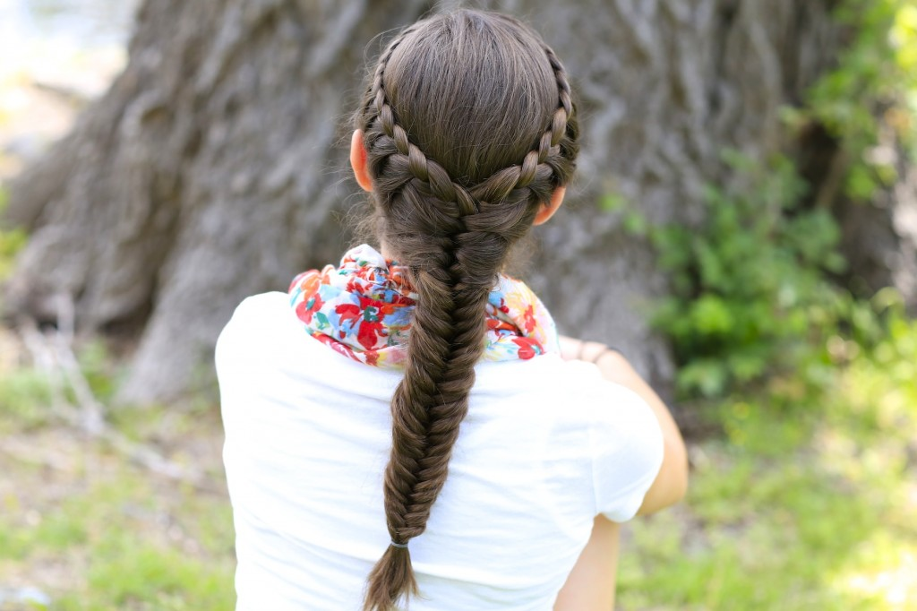 Laced Fishtail Braid
