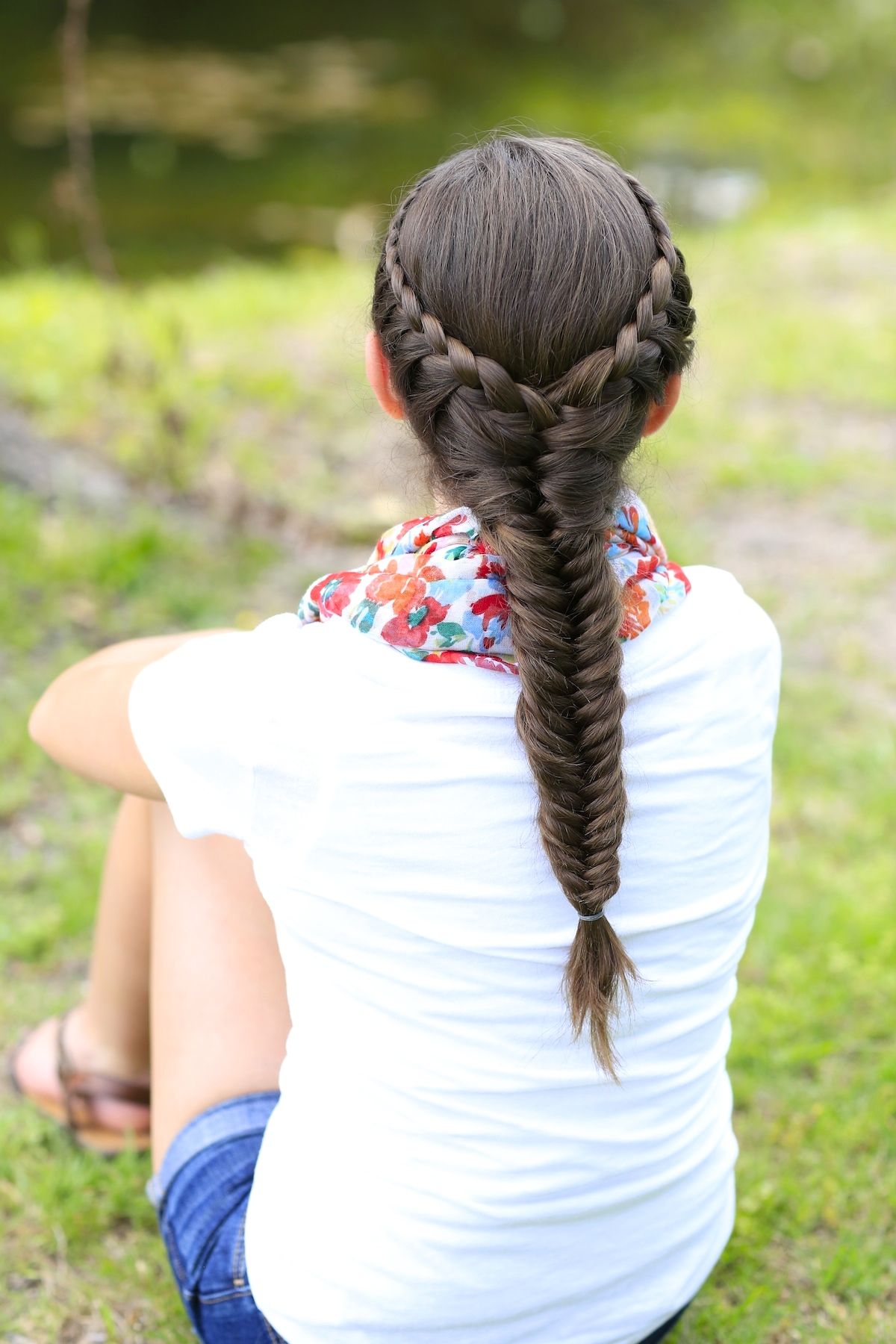 Laced fishtail braid for Fish tail hair