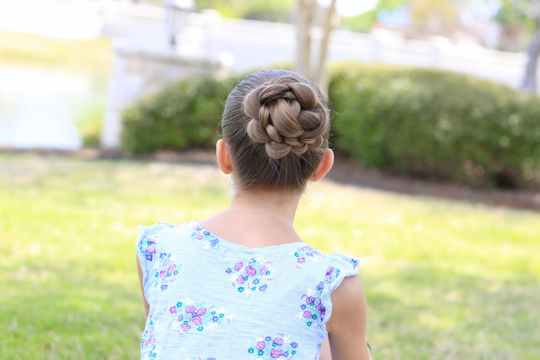 How To Create A 3d Flower Braid Cute Updos Cute Girls Hairstyles