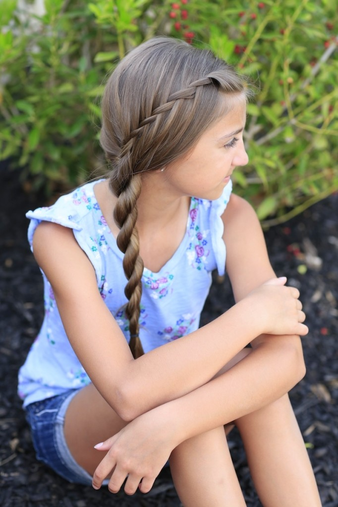 Waterfall Twist into Rope Braid