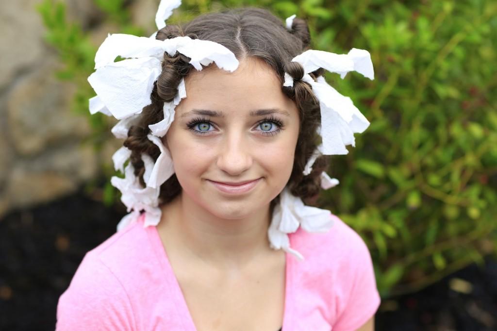 How To Create Quot No Heat Quot Paper Towel Curls Cute Girls