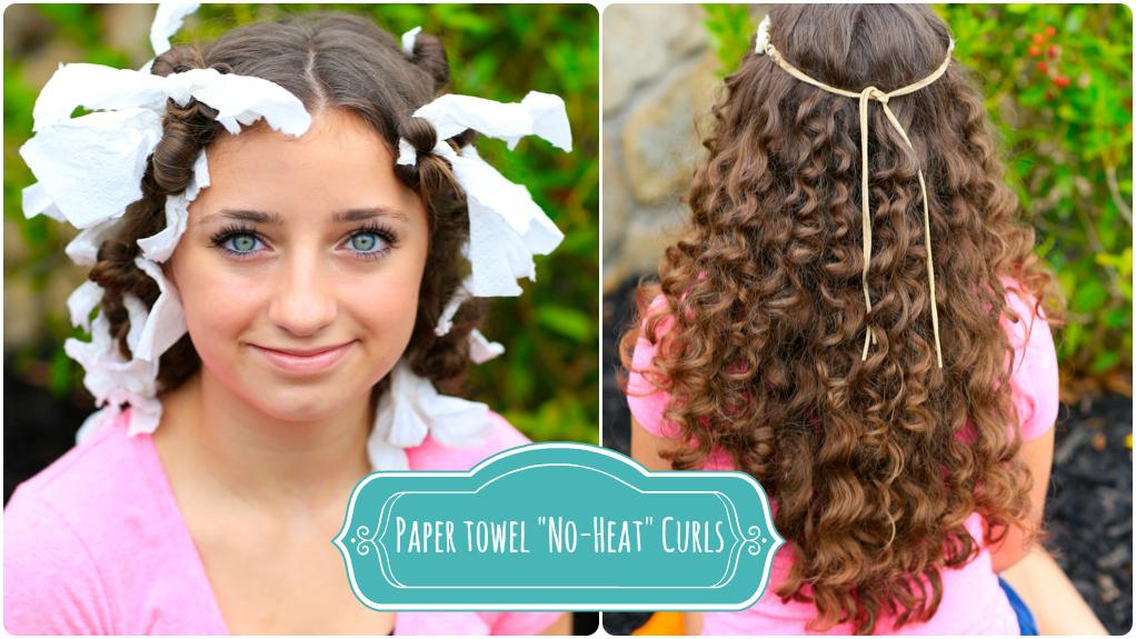 How To Create No Heat Paper Towel Curls Cute Girls