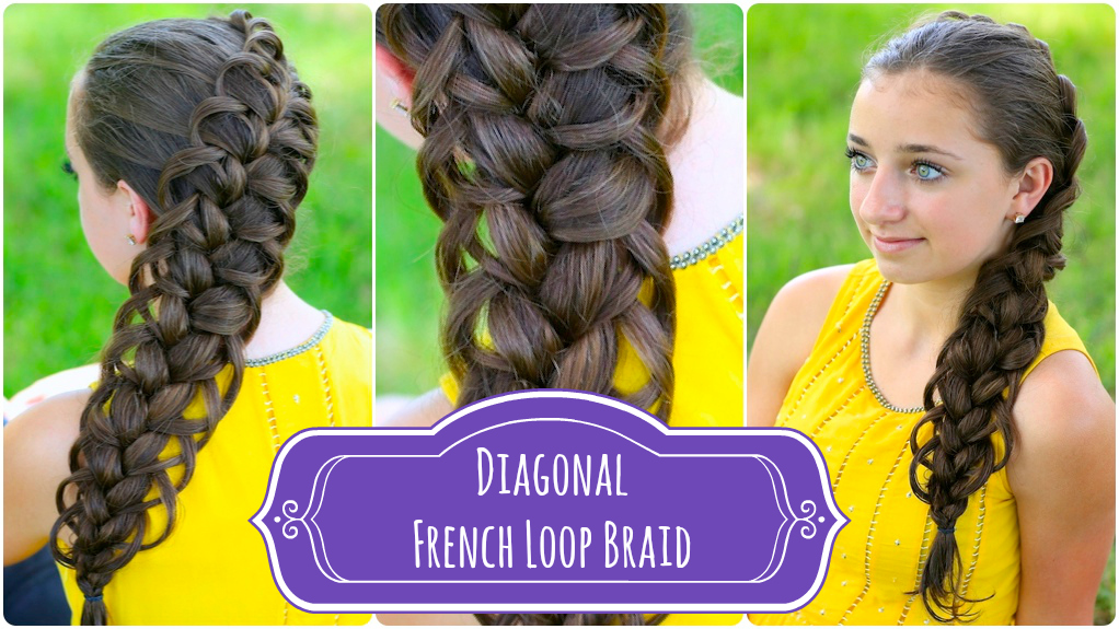 Diagonal french loop braid cute braid hairstyles cute girls diagonal french loop braid cute braid hairstyles cute girls hairstyles solutioingenieria