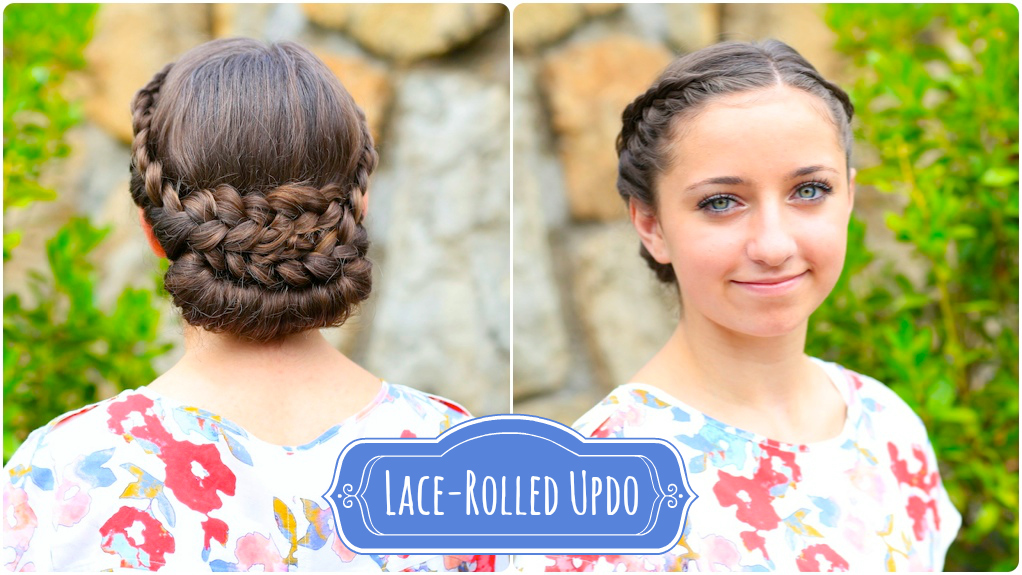 How To Create A Lace Rolled Updo Cute Girls Hairstyles