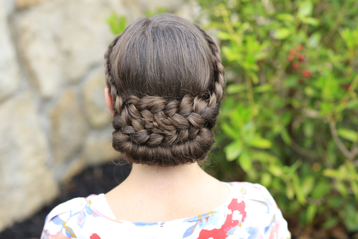 Lace-Rolled Updo Hairstyle