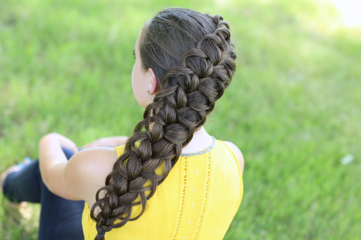 Diagonal French Loop Braid Cute Braid Hairstyles Cute Girls