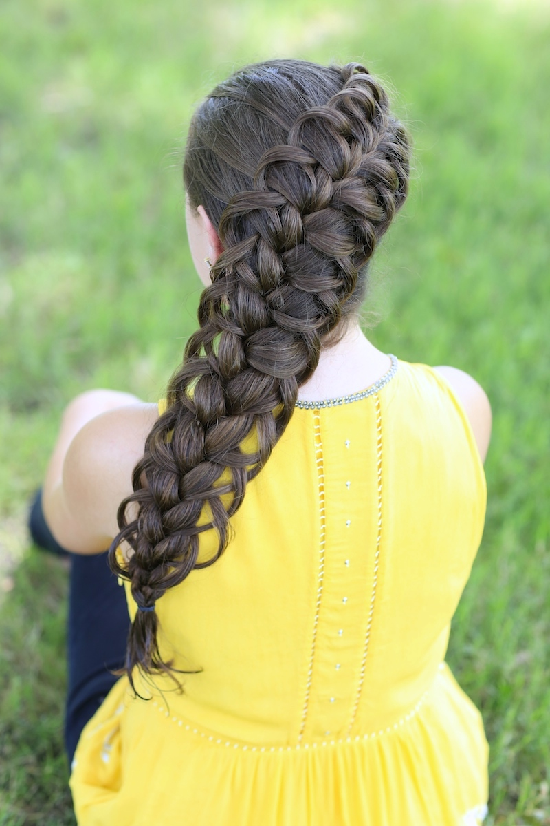Diagonal French Loop Braid