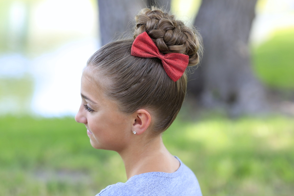 Cute Easy Hairstyles For School Dances : Pancaked bun of braids updo hairstyles cute girls