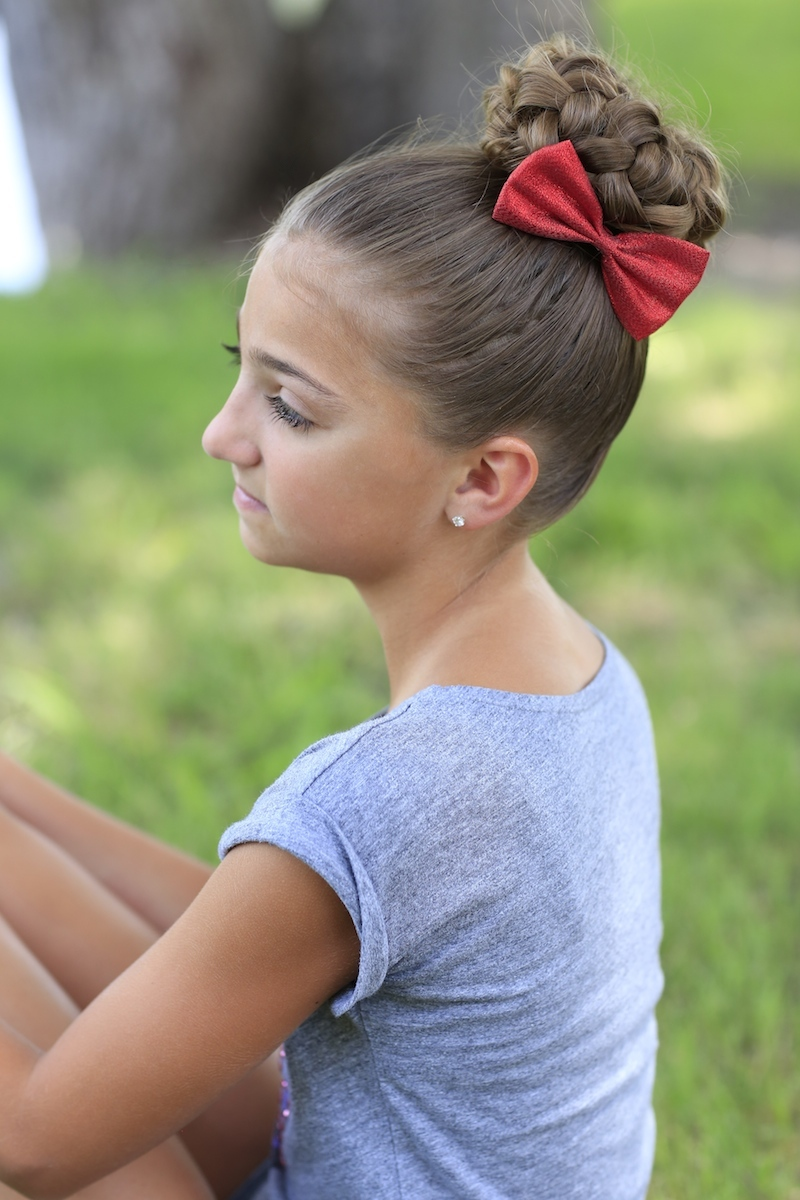 This hairstyle would be perfect for dance, gymnastics, ballet, cheer ...