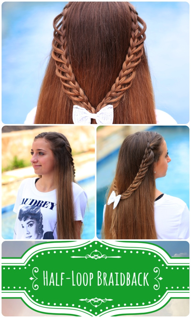 Half-Loop Braidback | Back to School Hairstyles