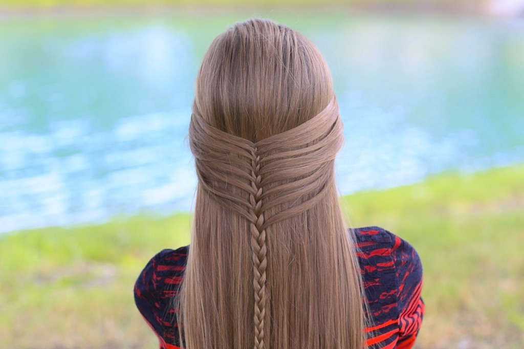 hair style braids mermaid half braid hairstyles for hair 3855