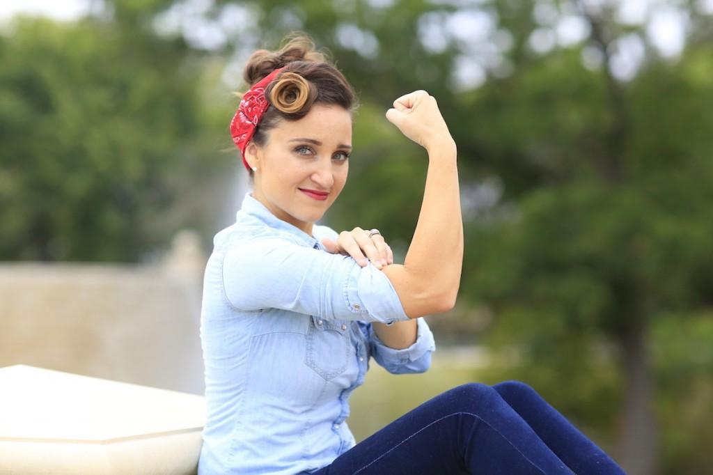 Rosie the Riveter   Hairstyle Tutorial
