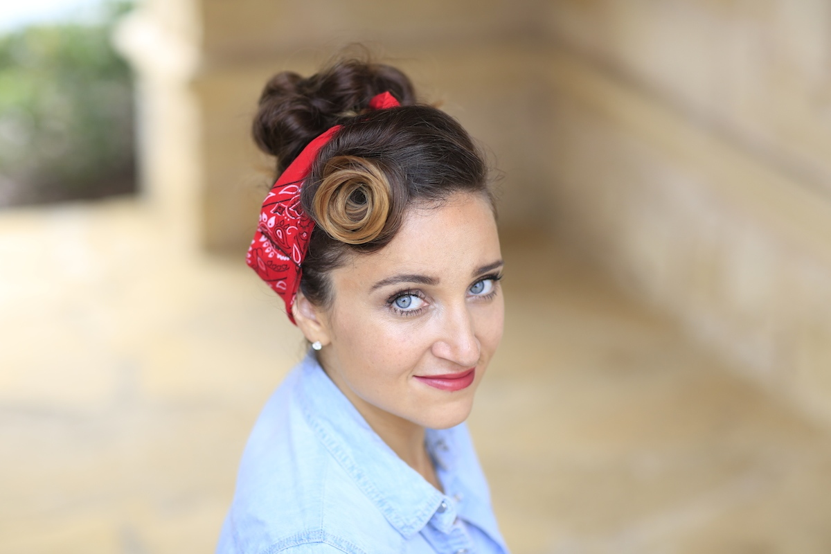 semi mohawk hairstyle : Rosie the Riveter Hairstyle Tutorial