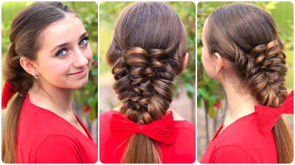 Banded Puff Braid