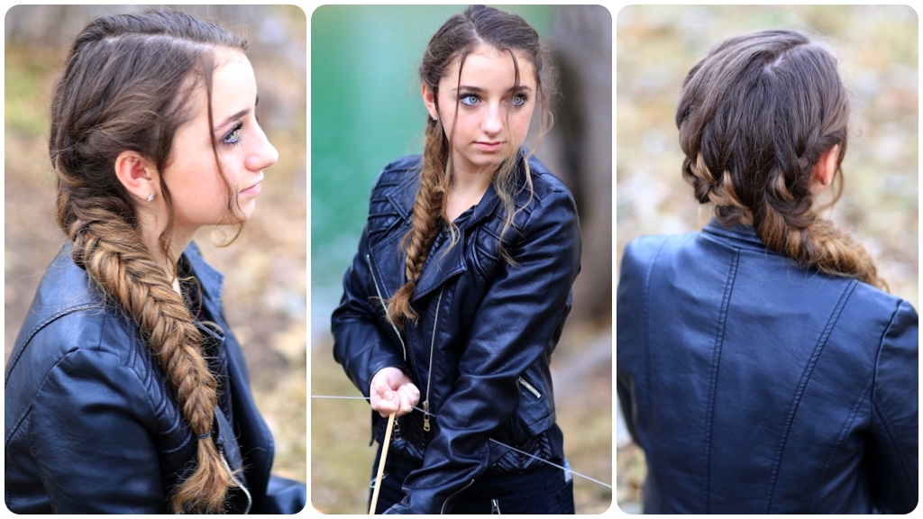 Katniss' Mockingjay Braid | Hunger Games Hairstyles | Cute ...