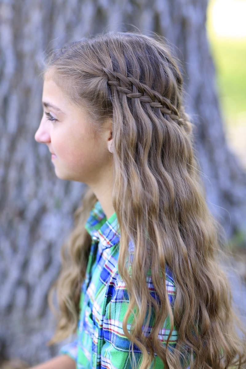 hairstyles cute hairstyle hair waterfall braid cutegirlshairstyles scissor combo braids haircut styles haircuts latest cut braided hairdos cuts young teens