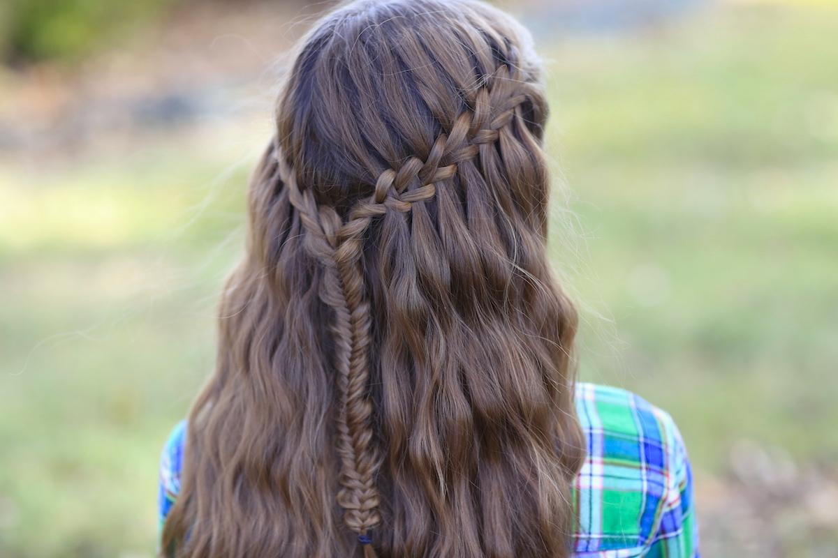 Waterfall Braid Ponytail Tutorial