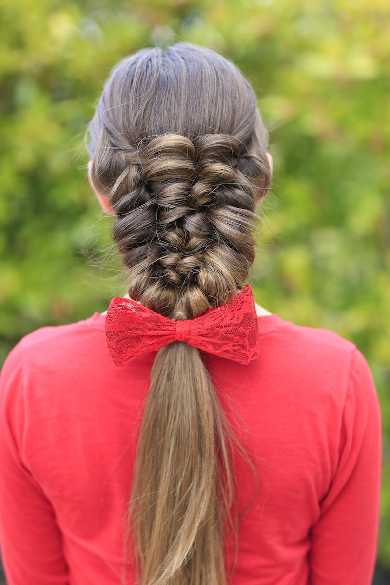 How To Create A Banded Puff Braid