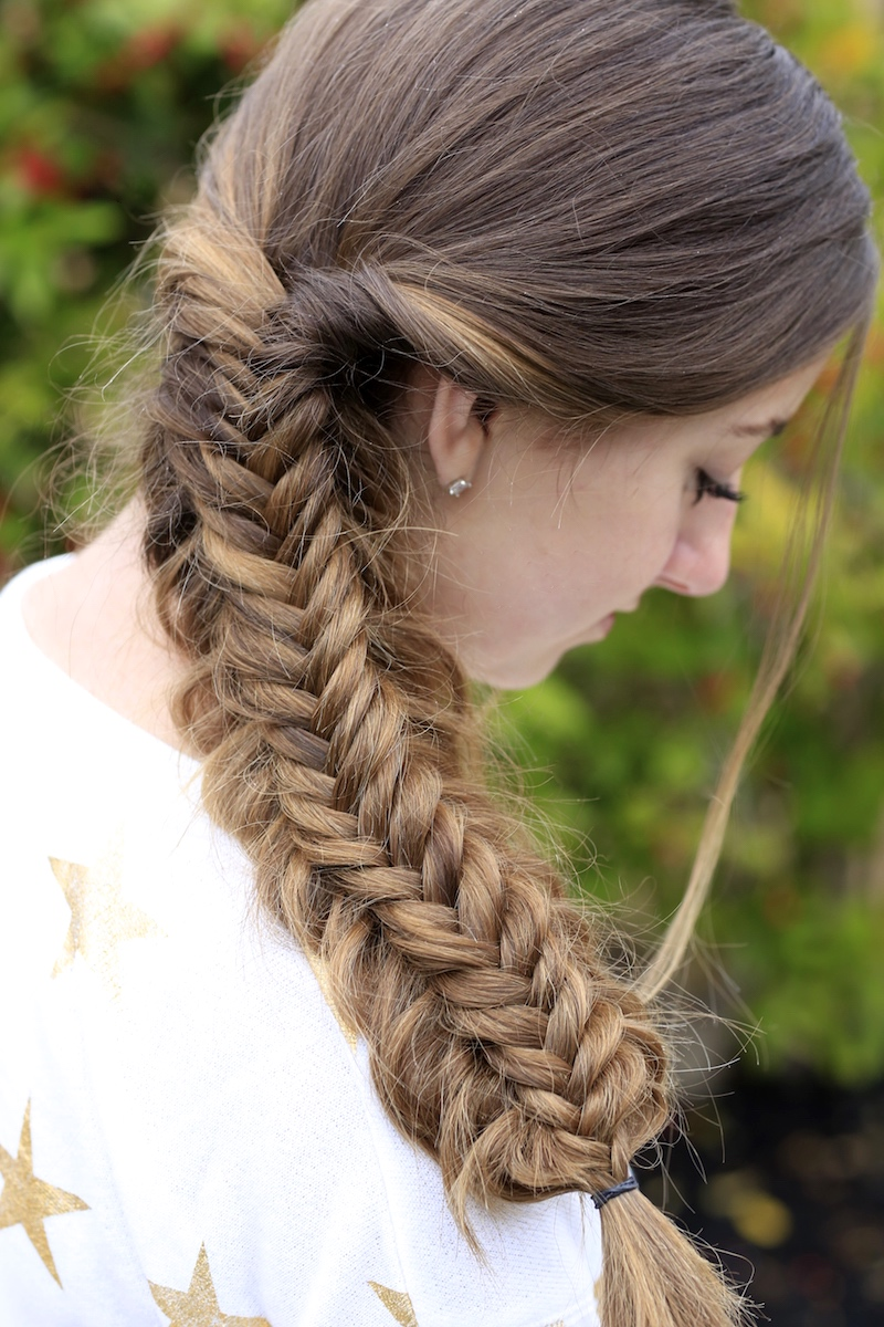 Messy Split Fishtail Braid