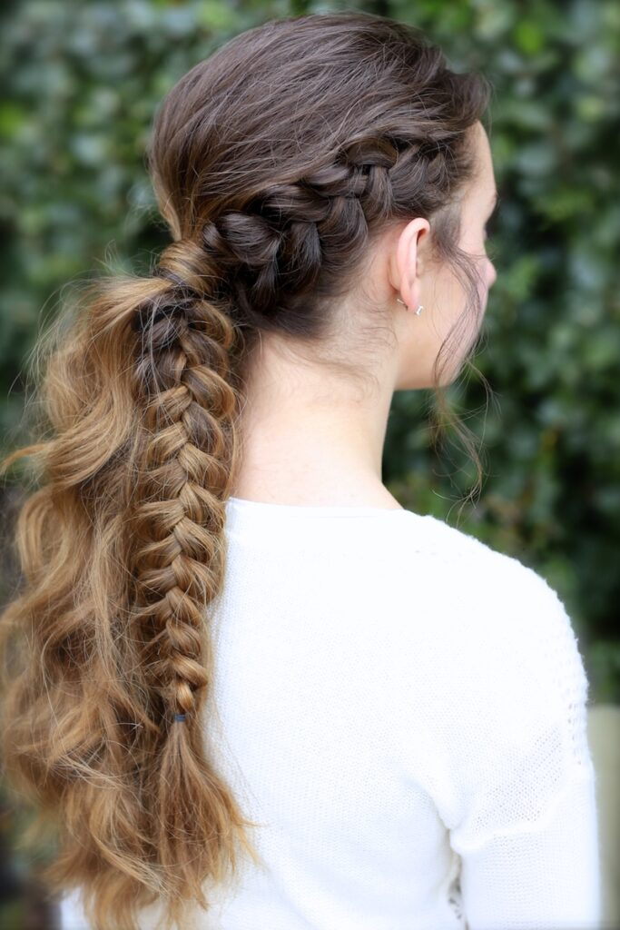 The Viking Braid Ponytail