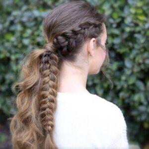 Viking Braid Ponytail | Ponytail Ideas