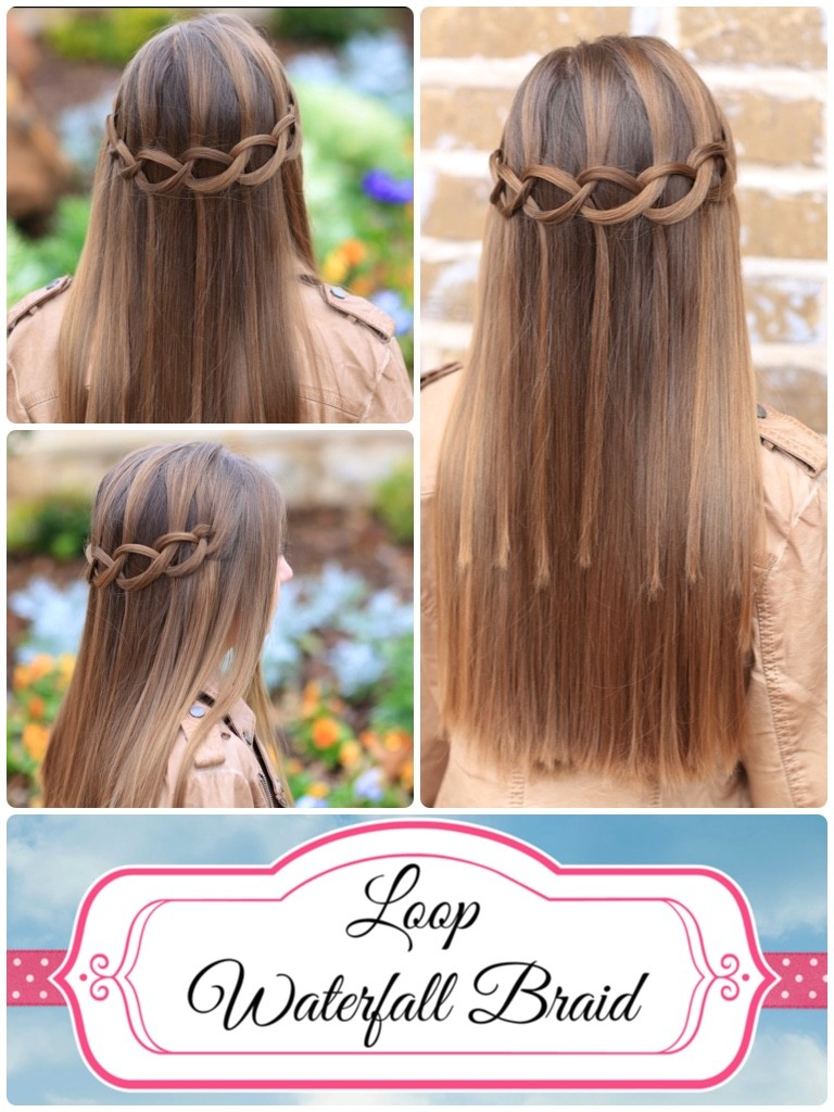 Hair Style Step By Step Cool How To Create A Loop Waterfall Braid  Cute Girls Hairstyles