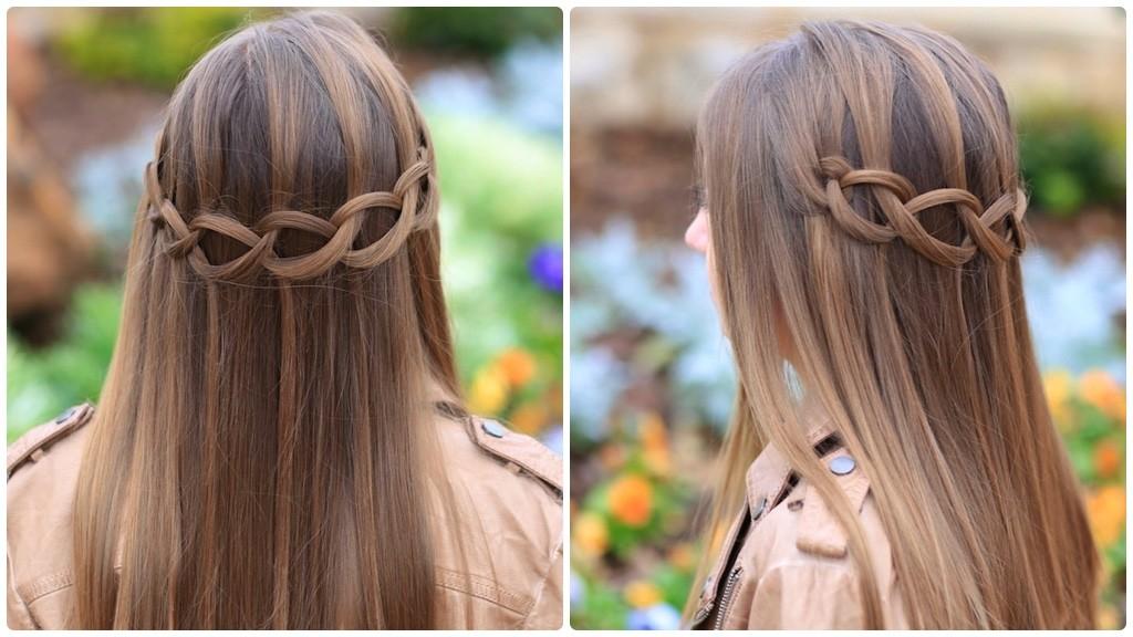 How To Create A Loop Waterfall Braid Cute Girls Hairstyles