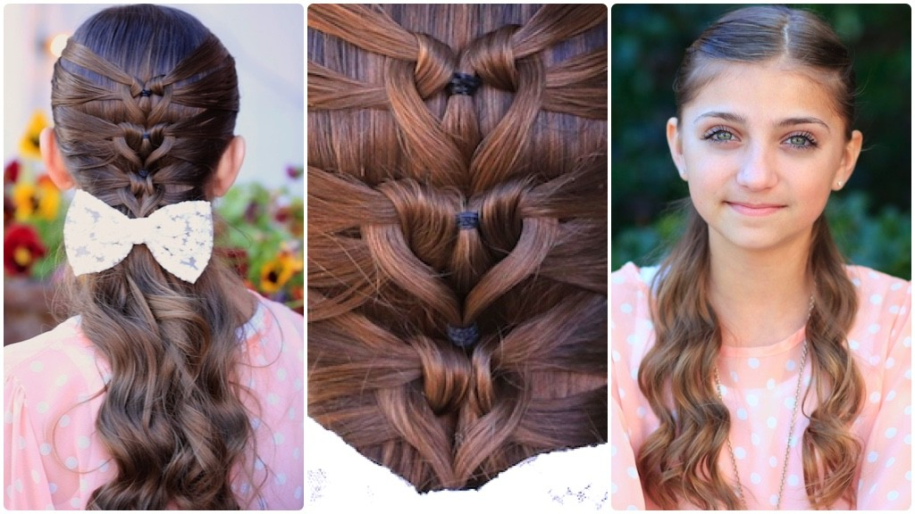 Mermaid Heart Braid Cute Valentine S Day Hairstyles