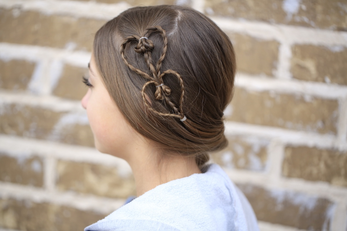 Cute Heart Accents Valentine's Day Hairstyles