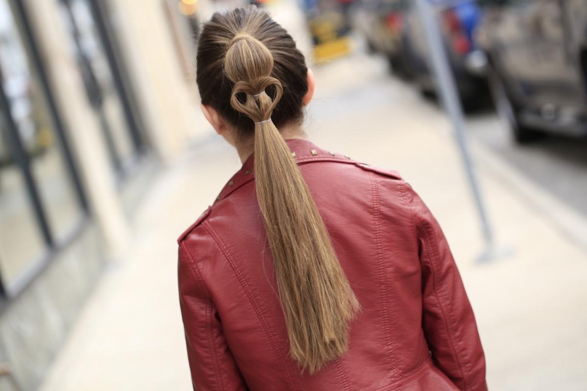 Heart Ponytail   Valentine's Day Hairstyles