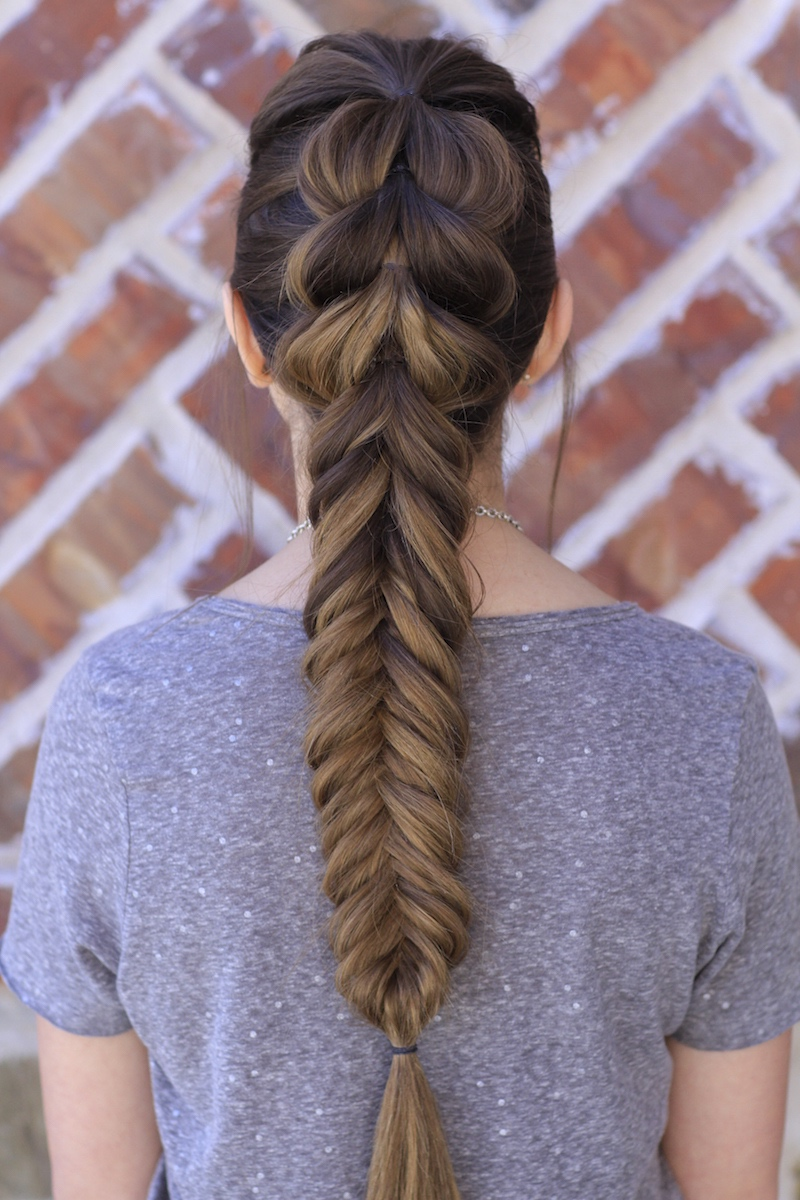 Pull-Through Fishtail Braid Combo | Cute Girls Hairstyles