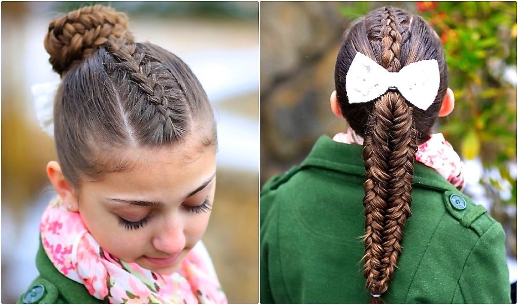 Twisted Edge Fishtail Combo Braid And Updo Cute Girls Hairstyles