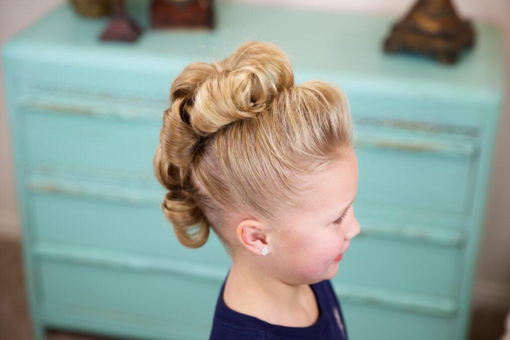 Flower Bun Hawk | Dance Hairstyles