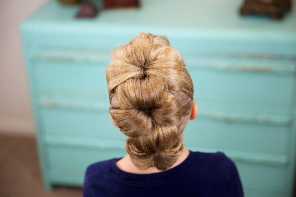Hairstyles Dance : Flower Bun Hawk Hairstyles for Dance Cute Girls Hairstyles
