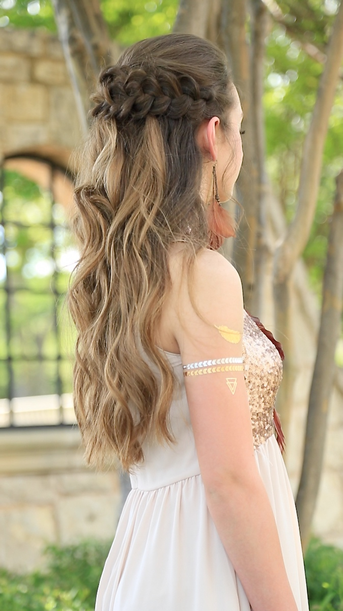 Braided Half Up Prom Hairstyles Cute Girls Hairstyles