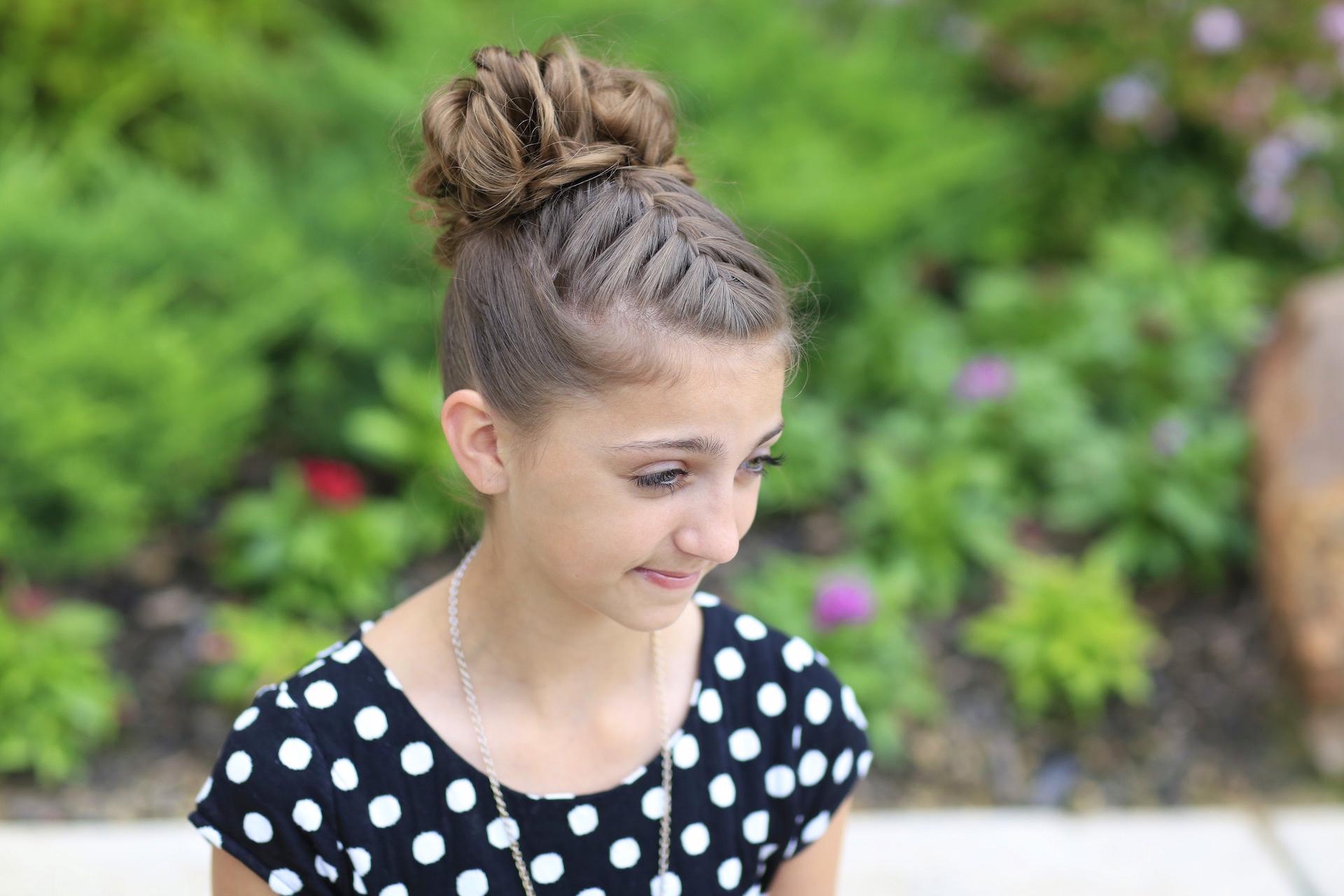 Super Double French Messy Bun Updo Cute Girls Hairstyles Schematic Wiring Diagrams Amerangerunnerswayorg
