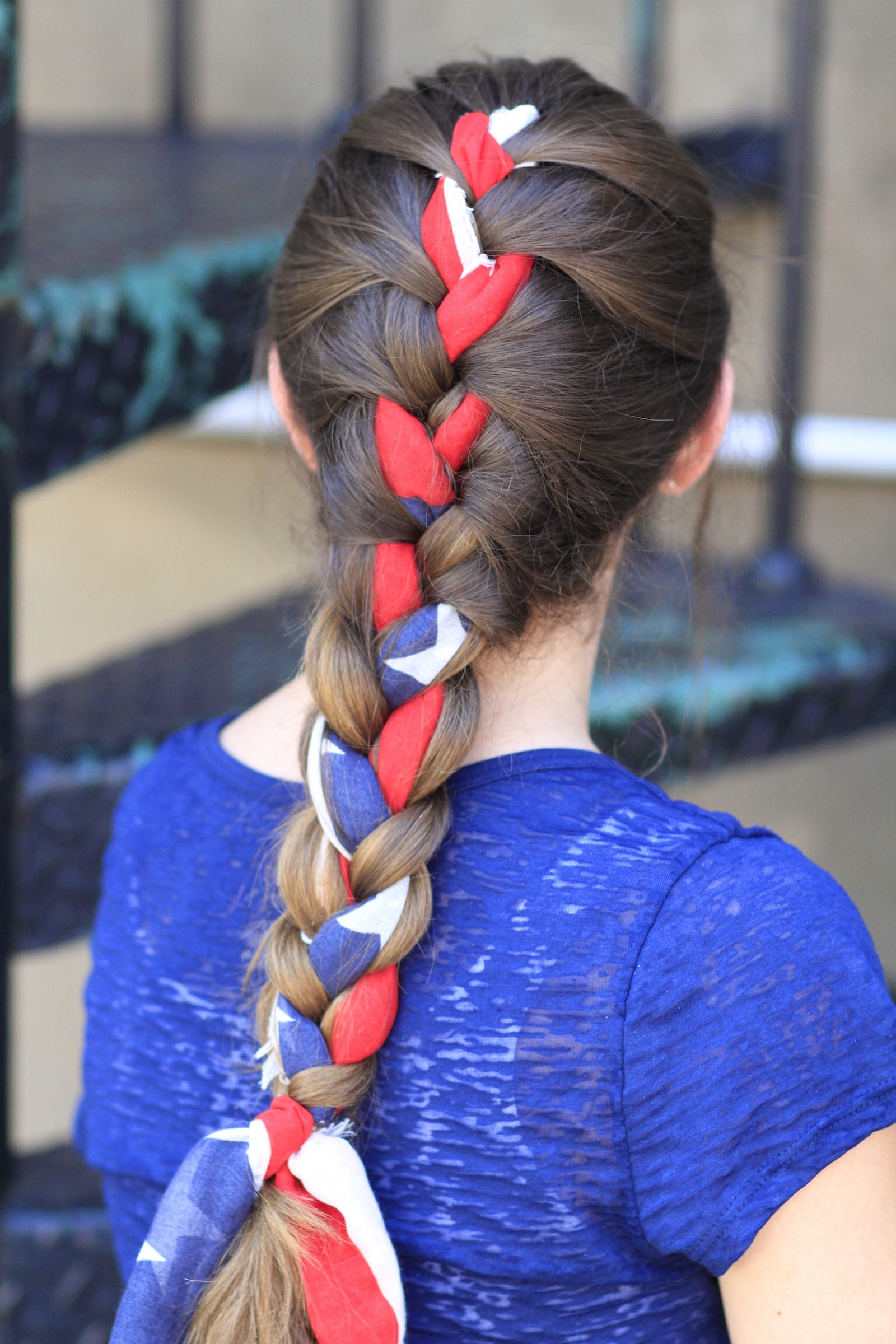 4th of july hair styles 3 minute scarf braid 4th of july hairstyles 5284
