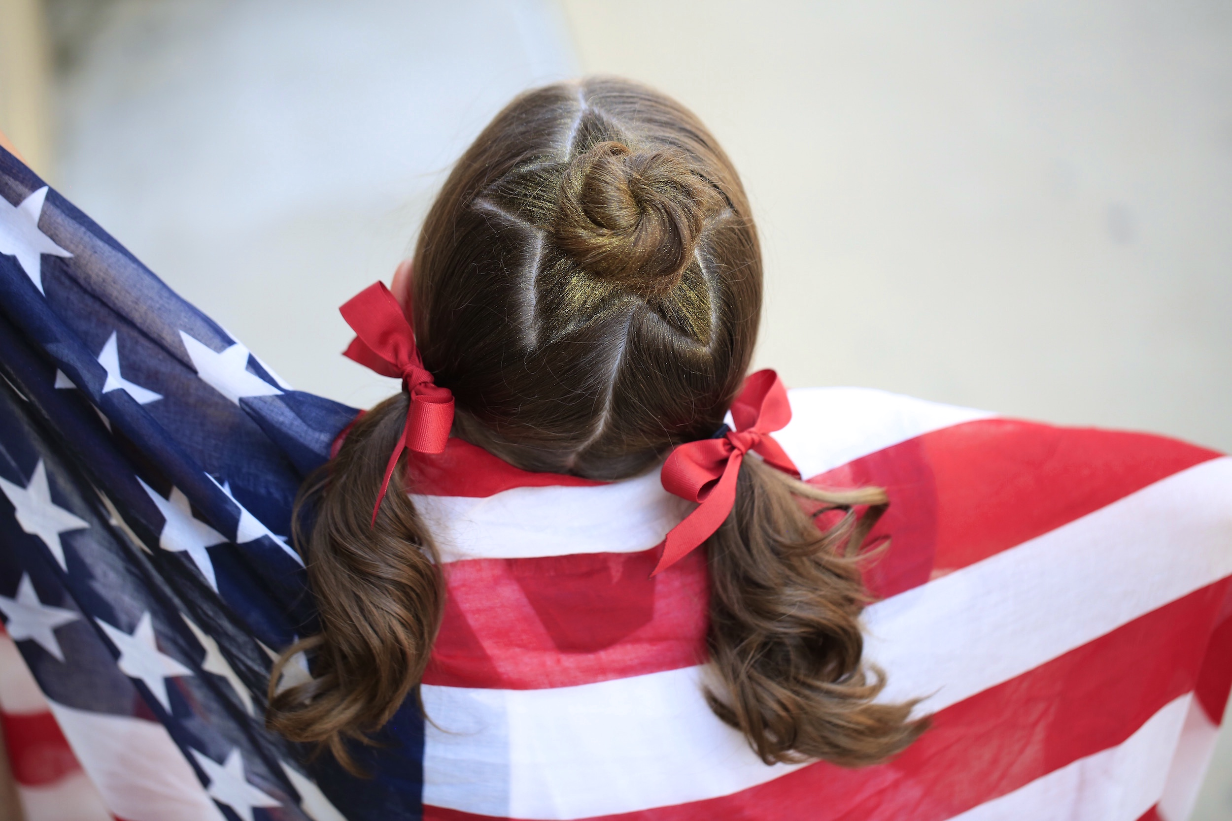 The Star Bun Combo 4th Of July Hairstyles Cute Girls Hairstyles