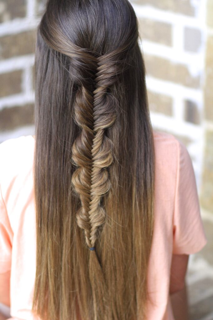Bubble Fishtail Braid
