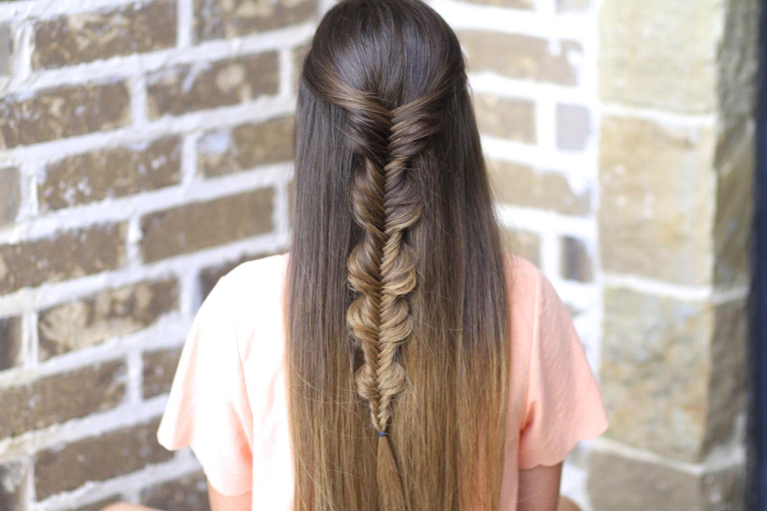 The No Band Bubble Fishtail Braid Cute Girls Hairstyles