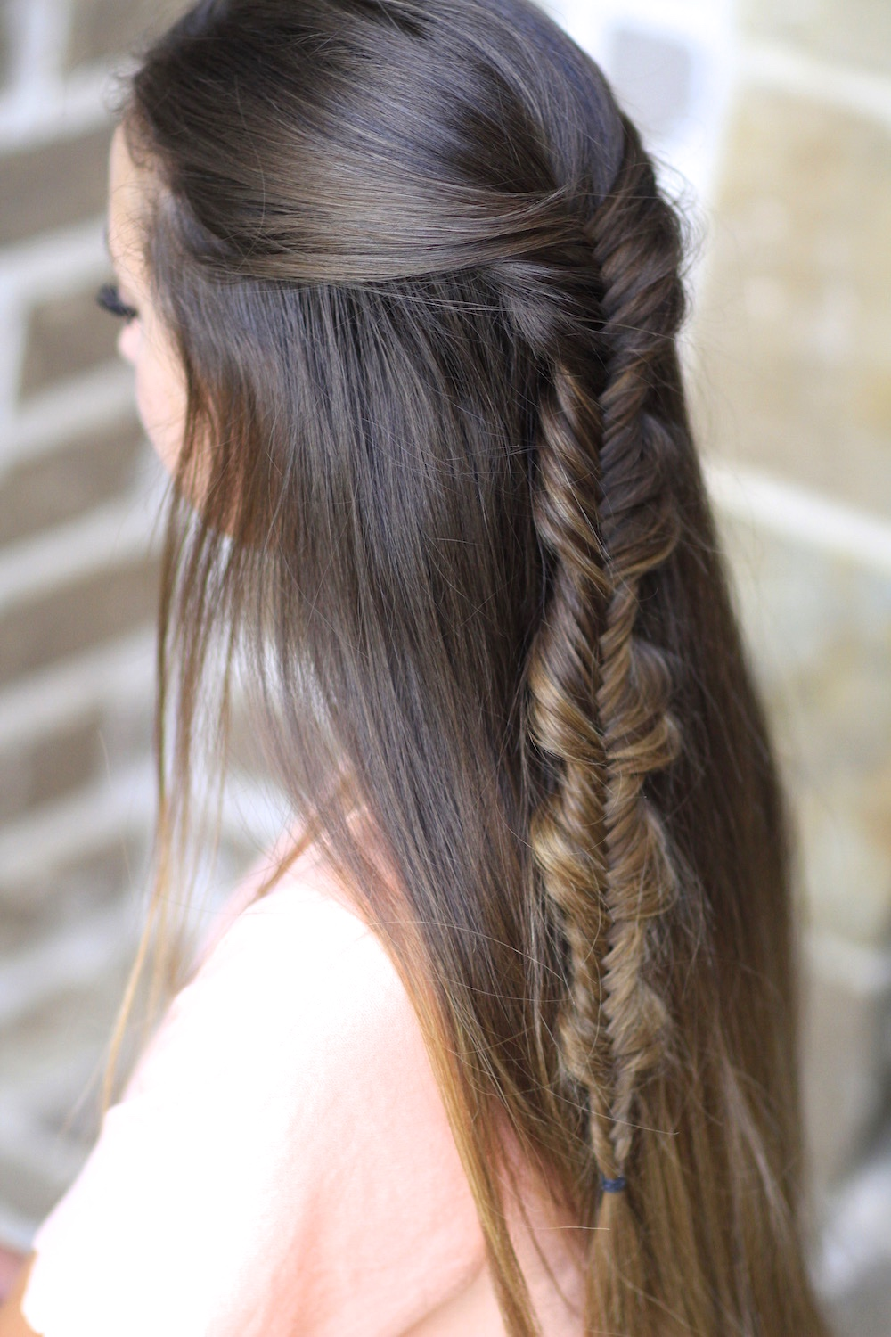 The no band bubble fishtail braid cute girls hairstyles for Fish tail hair