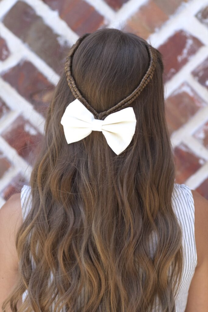 Infinity Braid Tieback. So cool that it looks like a never ending braid! #CGHInfinityTieback #haristyles #hairstyle #cutegirlshairstyles #braids #braid #longhair