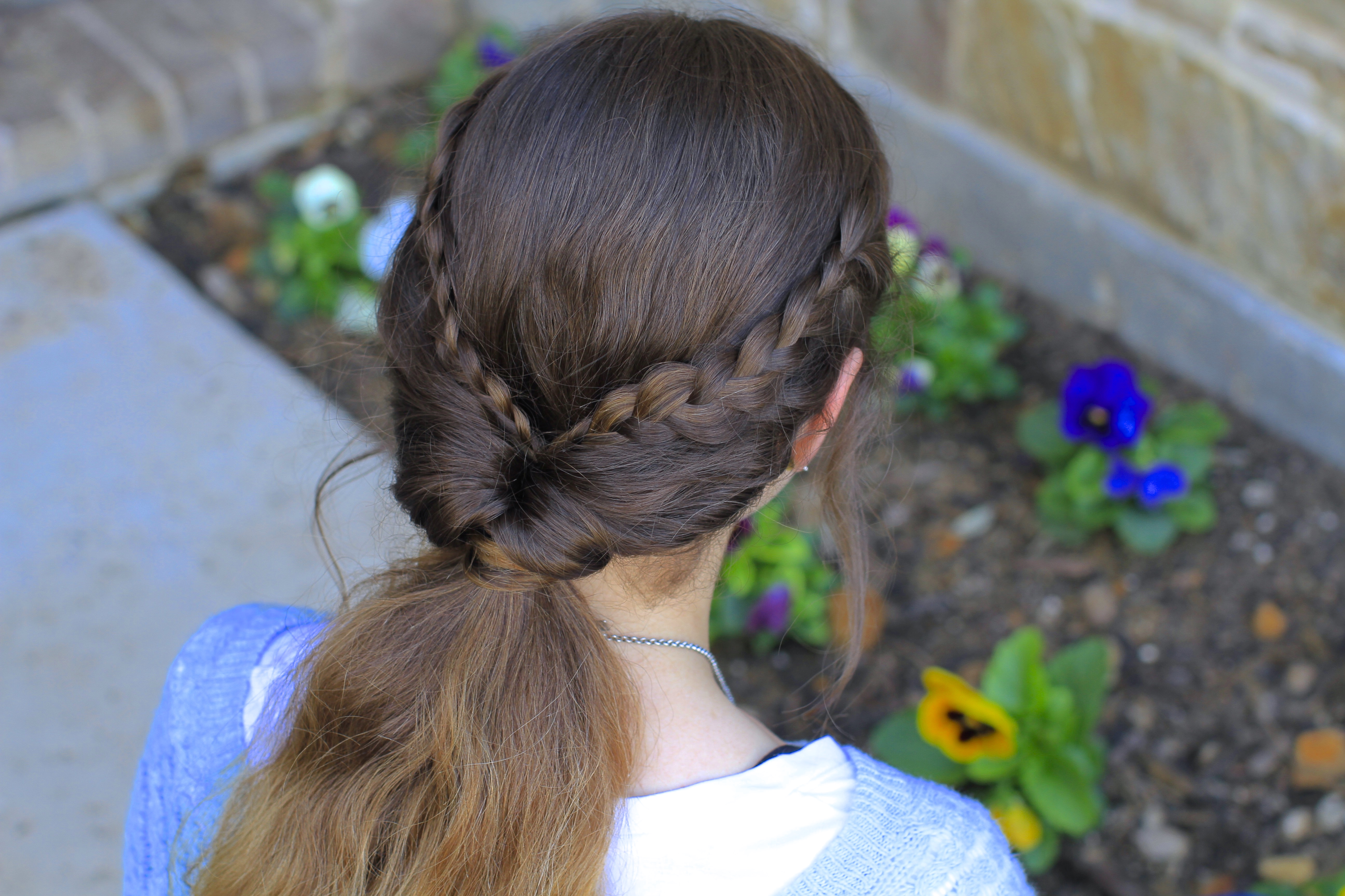 Braid Flip Combo Hairstyle