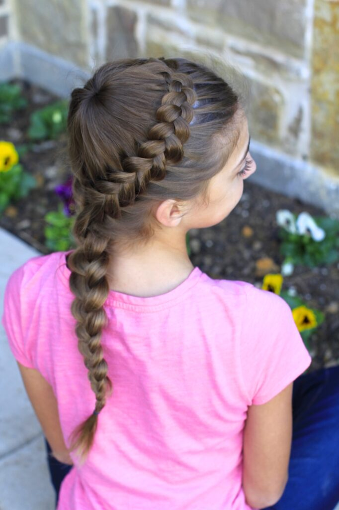 Dutch Starburst Braid | Hairstyles