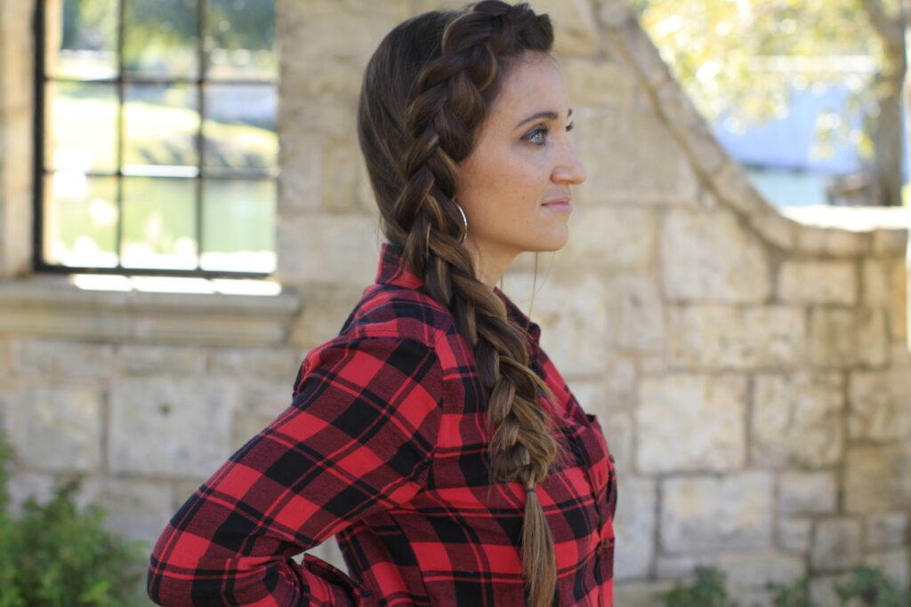 woman modeling Dutch Side Braid | Easy Hairstyles
